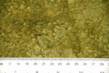 olive green fun fur sheepskin lambswool FABRIC 150cm drop PER METRE