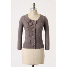 Anthropologie cardigan sweater EUC size M taupe sparkle