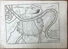 DE FER FORTIFICATIONS PLAN DE GRENOBLE C. 1690