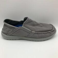 Crocs Mens size 7 Santa Cruz Convertible Loafers Shoes Gray Slip-On Square Toe