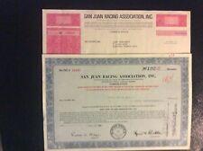 2  San Juan Racing Association  Puerto Rico Stock Certificates