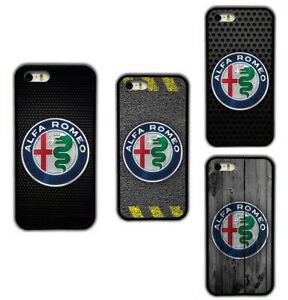 Alfa Romeo Logos Printed Pattern Rubber Phone Case Cover For iPhone / Samsung