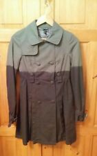 Topshop Grey Mix Lightweight Double Breasted Coat - Trenchcoat Style - Size 8