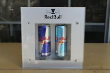 ~~~ RED BULL LED LIGHTED DOUBLE CAN DISPLAY WITH BACK KICK STAND ~~~