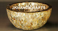 """12"""" Marble Counter-top Washbasin Mother of Pearl Random Sink Outdoor Decor"""