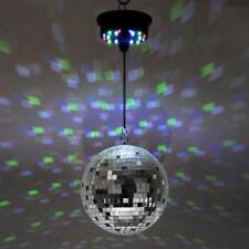 Disco Mirror Ball Ceiling Light Multi Colored Rotating Motorised Battery Operate