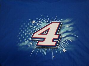 #4 Kevin Harvick Busch Light Home of the Brave NASCAR T-Shirt NEW Blue NWT