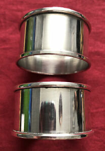 Pair Of Vintage Silver Plated Napkin Rings c.1960's