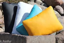 Leder Kissen 50x30 Kunstlederkissen Kissenhülle Stühle Kissenbezug Katzen Hunde