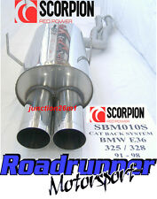 Scorpion BMW 325/328 E36 Cat Back Exhaust Acier Inoxydable (91-98) SBM010S