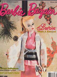 FEB 1998 - BARBIE BAZAAR vintage doll magazine