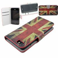 Union Jacket Phone Skin Leather Cover Card Wallet Case For Apple iPhone 5 5G 5S