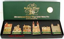 Dept. 56 Dickens Village 20th Anniversary History Pins Set of 6 NIB 58586