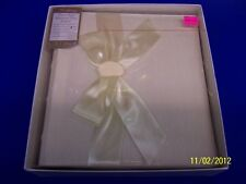 Ivory Silk Ribbon Wedding Bridal Shower Party Gift Photo-Safe Magnetic Album
