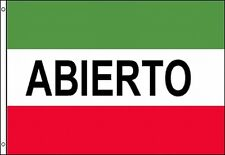 Abierto Advertising Flag 3x5 Banner Red White Green Open Spanish Business Sign