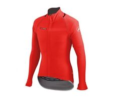 Castelli CONVERTIBLE CYCLING JACKET Small, 3-Rear Pockets,Wind Protection RED