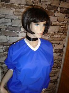 Nylon Pullover  Kittel Schürze Nurse Kleider Blouse Sissy Boy Apron Overall