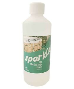 Spa Filter Cartridge Cleaner Hot Tub Spas and Whirlpools Sparkle  500ml Bottle