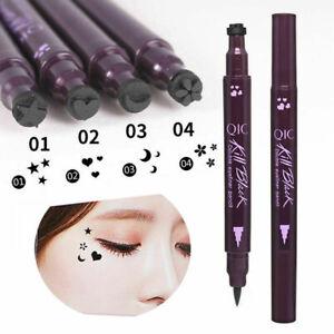 Double Head Waterproof Liquid Eyeliner Tattoo Stamp Liner Pencil Makeup Gif Hot!