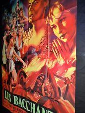 LES BACCHANTES affiche cinema peplum 1960