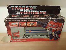 Vintage 1980s Transformers G1 Autobot Optimus Prime Boxed complete