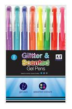 Anker International - Glitter & Scented Gel Pens Pack of 8, Assorted Colours