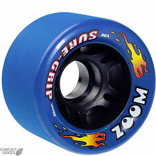 "SURE-Grip ""Zoom"" pattinare WHEELS x8 Blu Fit Bauer Roller Derby Indoor 96a"