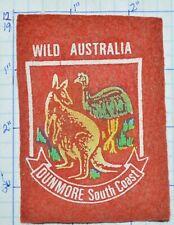Australia Wild Dunmore South Coast Kangaroo Ostrich Vintage Souvenir Patch