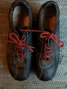 Camper Pelotas Ariel Black Leather Casual Shoes Women's Sz 37
