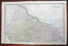 Northern India British Raj Calcutta Dehli Agra 1826 Charles Smith large map