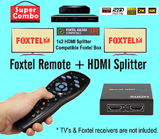New Foxtel replacement Remote + HDMI Splitter Combo Package