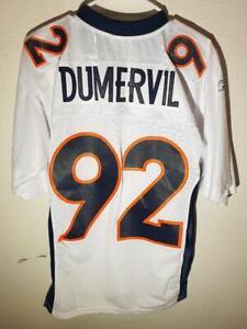 Reebok Premier NFL Jersey DENVER BRONCOS ELVIS DUMERVIL WHITE SIZE SMALL