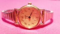 Vintage Swiss Tissot Ladies Gold Tone Quartz Watch New Battery