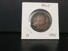 1cent hong kong 1905 king edward vfine condition