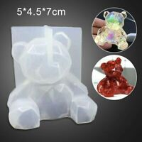 DIY Resin Plaster Candle 3D Bear Mold Soft Durable Silicone Mould Desktop Decor