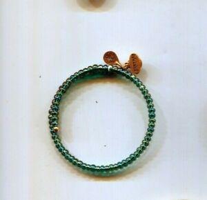 ALEX & ANI MIXED TEAL GREEN wrap bracelet vintage 66