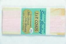 3 Yds Vintage J&P Coats LIGHT PINK Seam Binding Cards Gift Wrap Scrapbook
