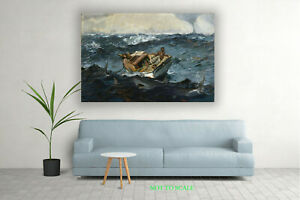 Winslow Homer The Gulf Stream CANVAS PRINT, ROLLED,STRETCHED or FLOATING FRAME
