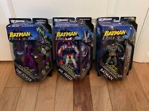 DC Universe Batman Legacy Edition Adult Collector Lot of 3 Joker Mr. Freeze