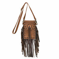 STS Ranchwear Ladies Chaps Leather Tote Distressed Brown Stadium 4.5x7.25x0.75