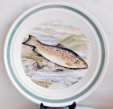 Portmeirion The Compleat Angler British Fishes IRISH SEA TROUT ~ Dinner Plate