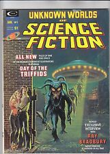 Unknown Worlds of Science Fiction #1 Ray Bradbury/Day the Triffids 1975 Curtis