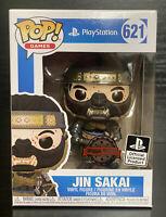 Pop Games. Ghost of Tsushima- Jin Sakai #621 Bloody Funko Pop Vinyl #PlayStation