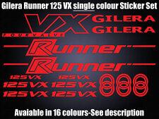 GILERA Runner 125 VX calcomanías/Pegatinas todos los colores disponibles-VX125 cuatro Válvula