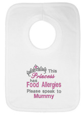 This Princess has Food Allergies Please Speak to Mummy Embroidered Baby Bib