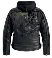 Harley-Davidson L Pacer Leather Jacket Cat Graphic & Full Sleeve Hoodie 97124-13