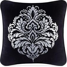 "J Queen New York Cambridge 20"" Square Decorative Pillow Black $74"