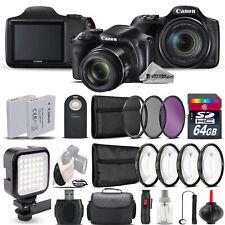 Canon PowerShot SX540 HS Digital Camera+ LED + 7PC Filter + EXT BAT - 64GB Kit