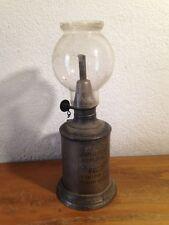 """lampe de sureté / à essence  / pigeon """"la meilleure """"  vintage art populaire"""