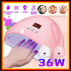 36W UV-Lampe LED Lichthärtungsgerät Nagel Trockner Maniküre Salon Gel Dryer Nice